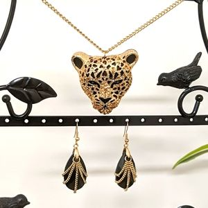 Aldo Gold Tiger Necklace and Earring